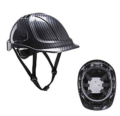 Carbon Fibre Look Safety Helmet Builder Climbing High Road Work Hard Hat Pc55