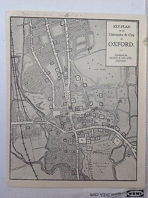 Key-Plan Of the University & City Of Oxford, 1933 Vintage Map