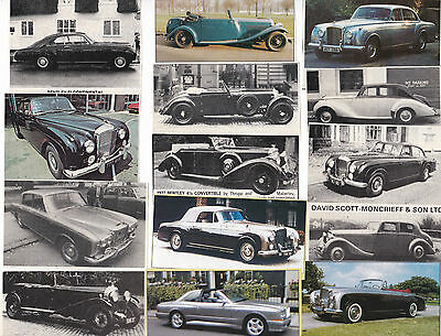 340 LOT Vintage & Classic BENTLEY CARS 'For Sale' Magazine Clips, Most UK Issue