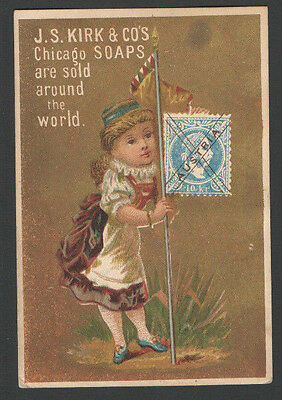 Victorian Trade Card AUSTRIA JS Kirk & Co's Chicago SOAPS Sold aRound the World