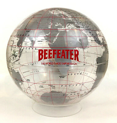 "Vintage BEEFEATER DRY GIN Spherical Concepts King of Prussia globe 12"" with base"