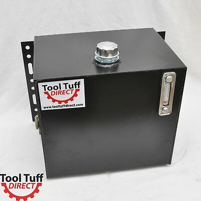 Tool-Tuff 25 Gal Hydraulic Fluid Reservoir Tank, 1/4-Turn Cap, Sight/Temp Ga