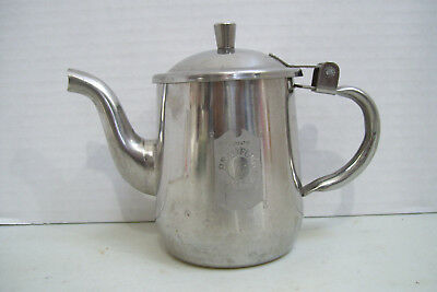 Antique Extremely Rare Grants Bradford House Stainless Steel Mini Tea Pot