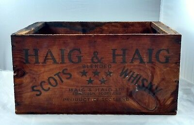 Antique HAIG & HAIG SCOTS BLENDED WHISKEY Wooden Crate Box