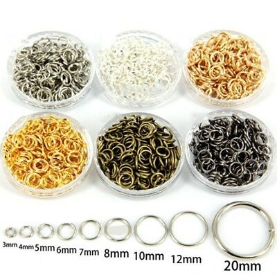 6 Colors Split Double Jump Gold&Silver Plated 3/4/5/6/7/8/10/12/20MM Metal Rings