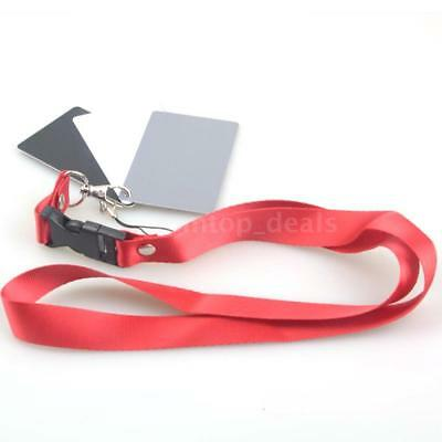 3in1 Digital Balance Cards 18% Gray Card+Neck Strap for Digital Photography US