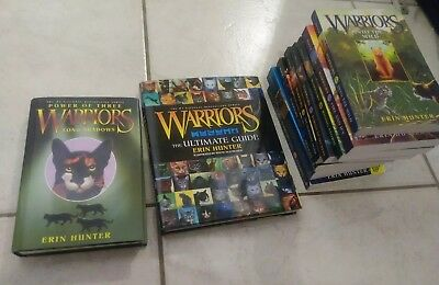 Warrior cats book lot of 10 Including hard cover guide