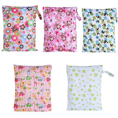 Waterproof Zipper Baby/Adult Cloth Diaper Nappy Wet Dry Bag Swimer Storage Pouch