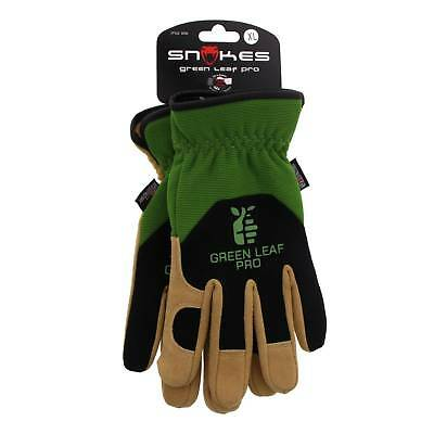 Gardeners Green Leaf Pro XLarge High Quality Deer Skin Palm Gloves Nylon Lycra