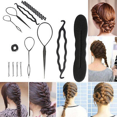 Hair Braiding Plaiting Twist Braider Roller Hook Bun Maker Hair Styling Tool AF