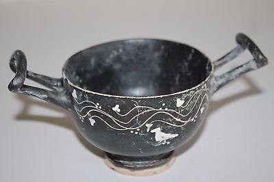 ANCIENT GREEK POTTERY GNATHIA  KYLIX 4th century BC MAGNA GRECIAN