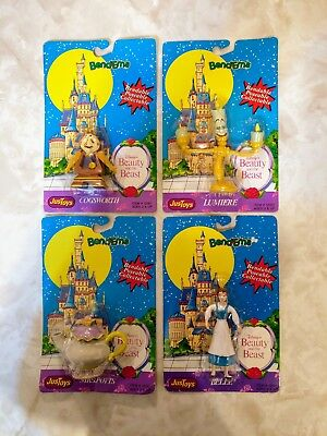 Beauty and the Beast Bend-Ems Lot Belle, Cogsworth, Lumiere, Mrs. Potts