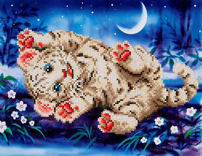 Diamond Dotz 5D Embroidery Facet Art Kit, Intermediate Baby Tiger Roly Poly