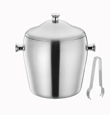 TeamFar Ice Bucket, Stainless Steel Ice Bucket with Lid, Insulated Double Wall,