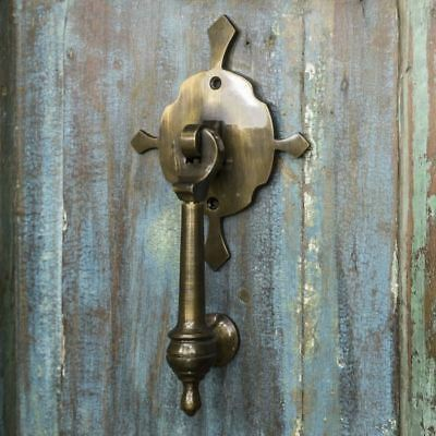 """Turnbrook Park"" Antique Brass Door Knocker - Supplied With Fixings"