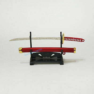 """1/6 Scale Katana Japanese Samurai Sword With Rack Model For 12""""in Action Figures"""