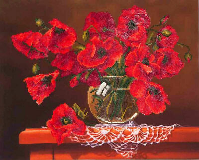 Diamond Dotz Embroidery Facet Art Kit, Intermediate Red Poppies