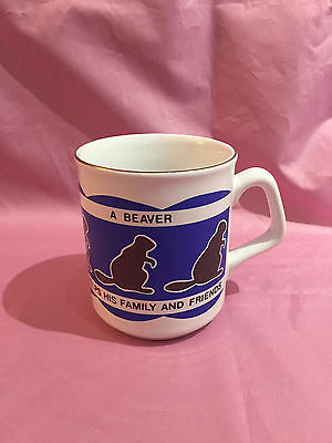 Vintage Beavers Scouts coffee cup
