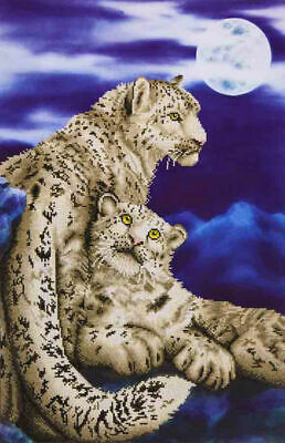 Diamond Dotz 5D Embroidery Facet Art Kit, SNOW LEOPARDS, Round dots, Boxed