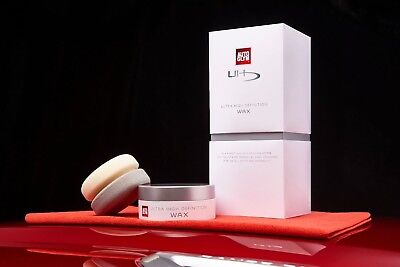 Autoglym Ultra High Definition Wax Kit Deep Gloss Finish Shine Applicator Cloth