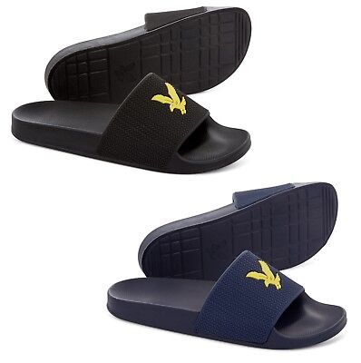 Lyle & Scott Synthetic Sliders Thomson Flip Flop Summer Shoes Yellow Eagle