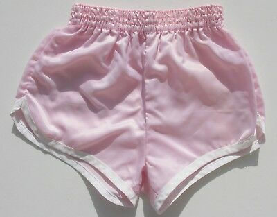 Authentique Short vintage enfant satin rose - Taille 8ans - Stature 126 -