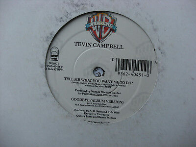 Tevin Campbell ‎– Tell Me What You Want Me To Do / Goodbye Qwest Records ‎W0102T