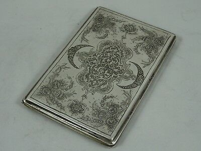 QUALITY  PERSIAN silver CIGARETTE CASE  c1930, 207gm