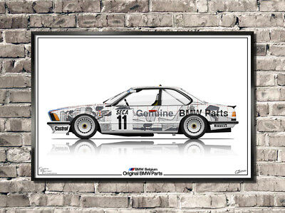 BMW 635 CSi Gr.A -  24h of Spa Francorchamps 1986 Group A - Poster Tribute