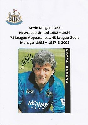Kevin Keegan Newcastle Utd 1982-1984 Original Hand Signed Magazine Cutting