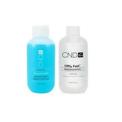 CND - Offly Fast Nourishing Remover & Scrubfresh Cleanser 2 x 59ml