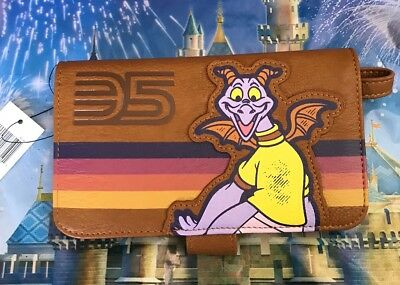 New Disney Parks Epcot 35th Figment Wallet Wristlet Loungefly