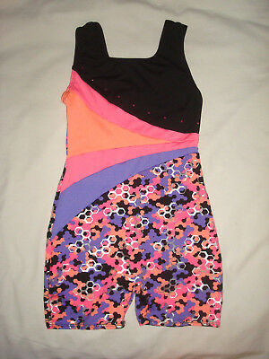 Freestyle Multi-Colored Top Unitard Gymnastic Dance Leotard Child Sz Medium 7-8