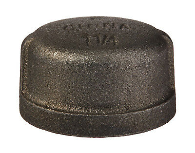 """3/4"""" BLACK MALLEABLE IRON CAP PAN fitting pipe npt"""