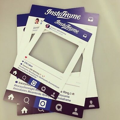 A2 PERSONALISED INSTAGRAM Frame Photo Party Prop Selfie Frame ...