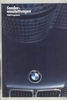 1987 BMW 325i M3 528 535i M5 635CSi M6 735i Accessories Brochure German wz0237