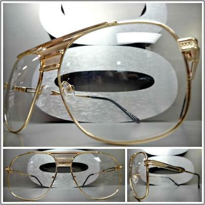 Mens or Women VINTAGE RETRO Style Clear Lens EYE GLASSES Rose Gold Fashion Frame