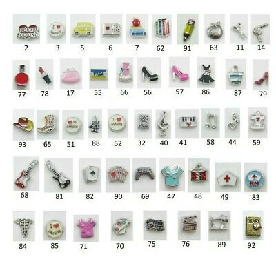 Floating Charm HOBBIES PASSIONS for Glass Memory Locket