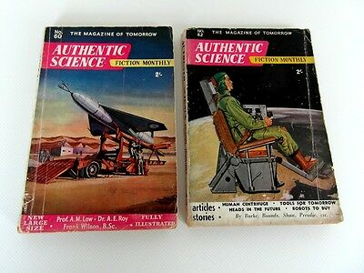 2 x authentic sci fi mags