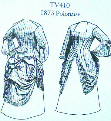Old West 1870 Polonaise long blouse top sewing pattern Truly Victorian TV410 new