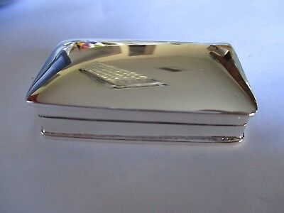 Large Sterling Silver Pill box Rectangle shape solid 925 silver Hallmarked 36 G