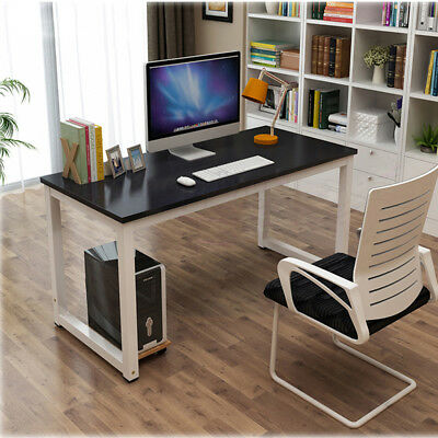 Computer Desk Study Writing Table Home Office WorkStation Wooden & Metal Leg