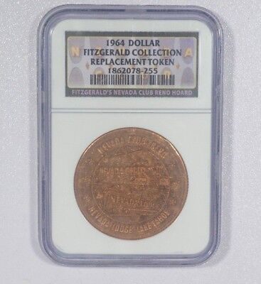 1964 Dollar Fitzgerald Collection Nevada Club Replacement Token NGC Graded