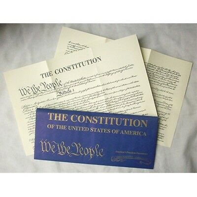 Historic Document REPLICA CONSTITUTION  OF THE U.S.A ON LINEN PAPER new 38201