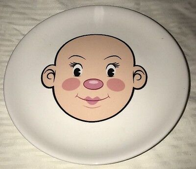 Fred Plays with his food Ceramic Nostalgic Face Plate Great Condition Girl Plate
