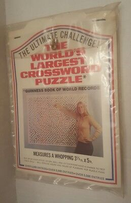World's Largest Crossword Puzzle Vintage Game 3.5x5 feet HUGE NOS