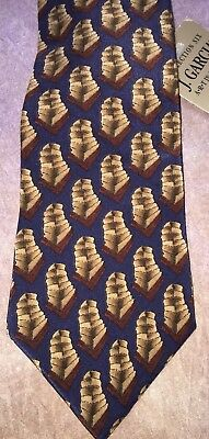 SDO J. Garcia Desert Storm Collection Six Tie Silk Made in USA EUC Jerry Garcia