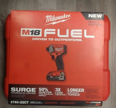 MILWAUKEE-2760-22CT M18™ FUEL™ SURGE™ 1/4 In. Hex Hydraulic Driver Kit