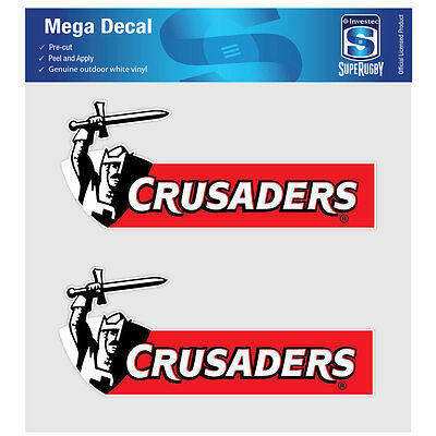 NZ Super Rugby Union Crusaders iTag Mega Decal Sticker Set