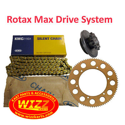 Rotax Max 12t Drive System 1 x Engine Sprocket, Chain & Rear Sprocket Wizz Karts